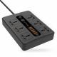 توصيلة كهرباء من بورودو مع 6 بلكات و 6 USB مع ميزة الاغلاق الذاتي