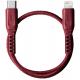 واير من يونيك من نوع فليكس / ايفون ل USB-C بطول 30 سنتمتر / احمر