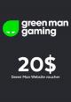 Green Man Games Website / 20 USD Digital Card