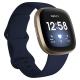 ساعة Fitbit Versa 3 الذكية لتعقب الرياضة والصحة مع حساس قلب / كحلي وذهبي