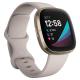 ساعة Fitbit Sense الذكية لتعقب الرياضة والصحة والضغط النفسي / ابيض