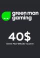 Green Man Games Website / 40 USD Digital Card