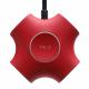 توصيلة الكهرباء Trix / فيها مغناطيس للتثبيت / 3 مداخل ثلاثية و 2 USB / احمر