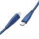 واير من راف باور Type-C ل الايفون بطول 2 متر / أزرق